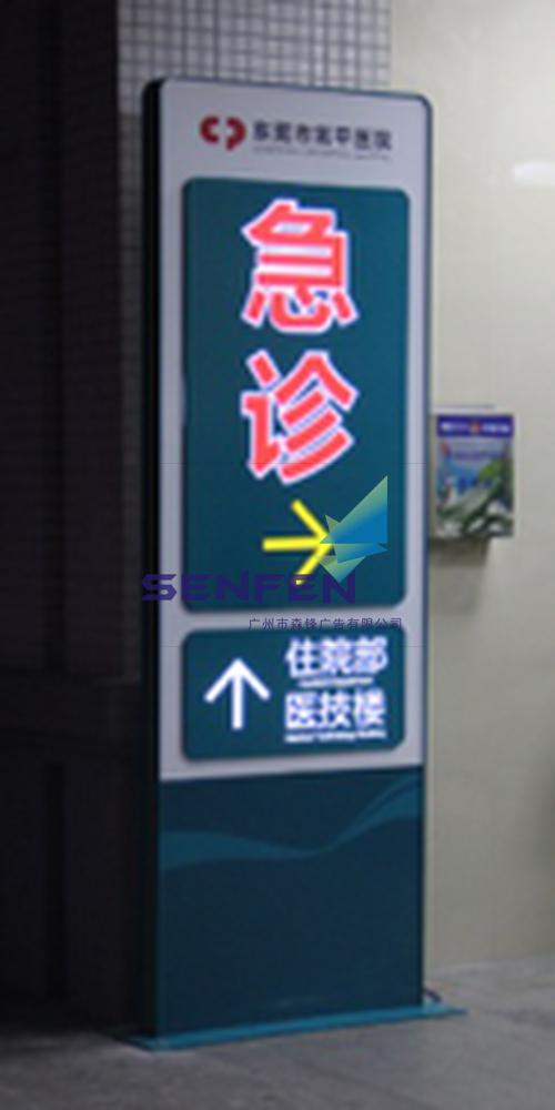 医院落地标识牌